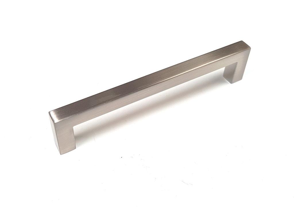 Modern Kitchen Cabinet Handles Brushed Satin Finish Lock