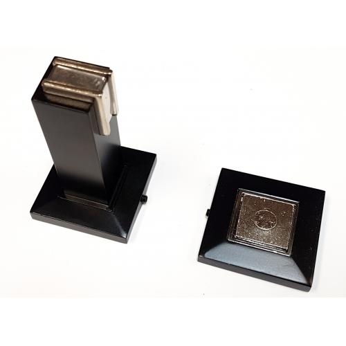 Black Square Magnetic Door Stops Wall Or Floor Mountable