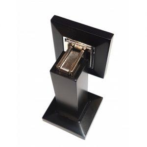 Black Square Magnetic door stops, wall or floor mountable
