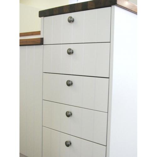 Antique pewter cabinet