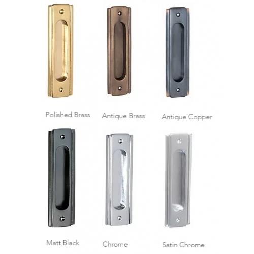 Sliding Door Handle >> Traditional Deco Style Sliding Door Flush Pull Handle