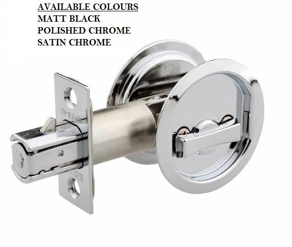 Cavity Sliding Door Handle Sets Round Design Passage And