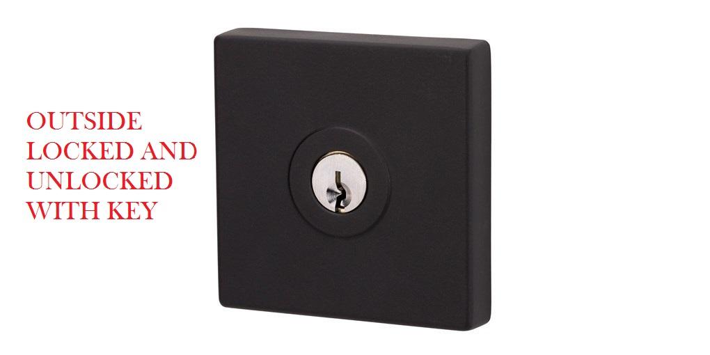 Lockwood 005 Paradigm Square Deadbolt In Black Finish