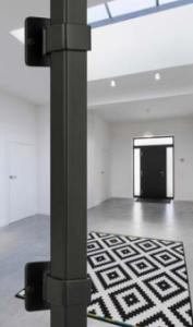 Black Iron Entrance Door handle 400mm Long