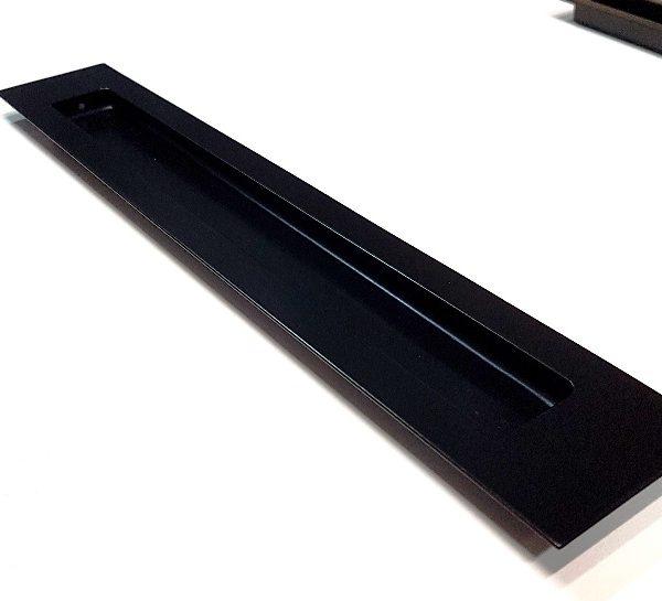 Large Black Sliding Door Flush Pull - Lock and Handle