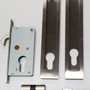 200mm Long Lockable Sliding Door Flush Pull Handle Kit