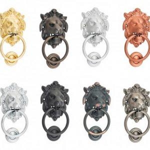Lion Head door Knocker in Various Colours