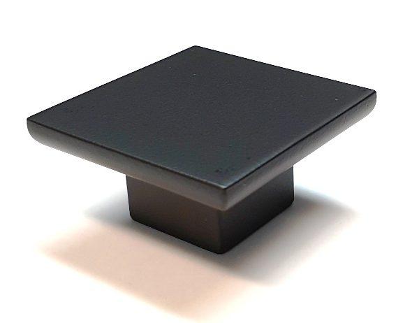 Matt Black Square Cabinet Knobs 50x50mm Square Lock And