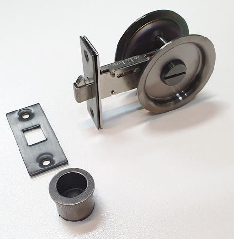 Graphite Nickel Coloured Cavity Sliding Door Handles